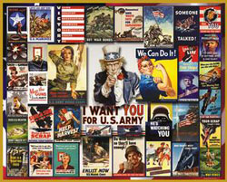 World War II Posters Military Jigsaw Puzzle